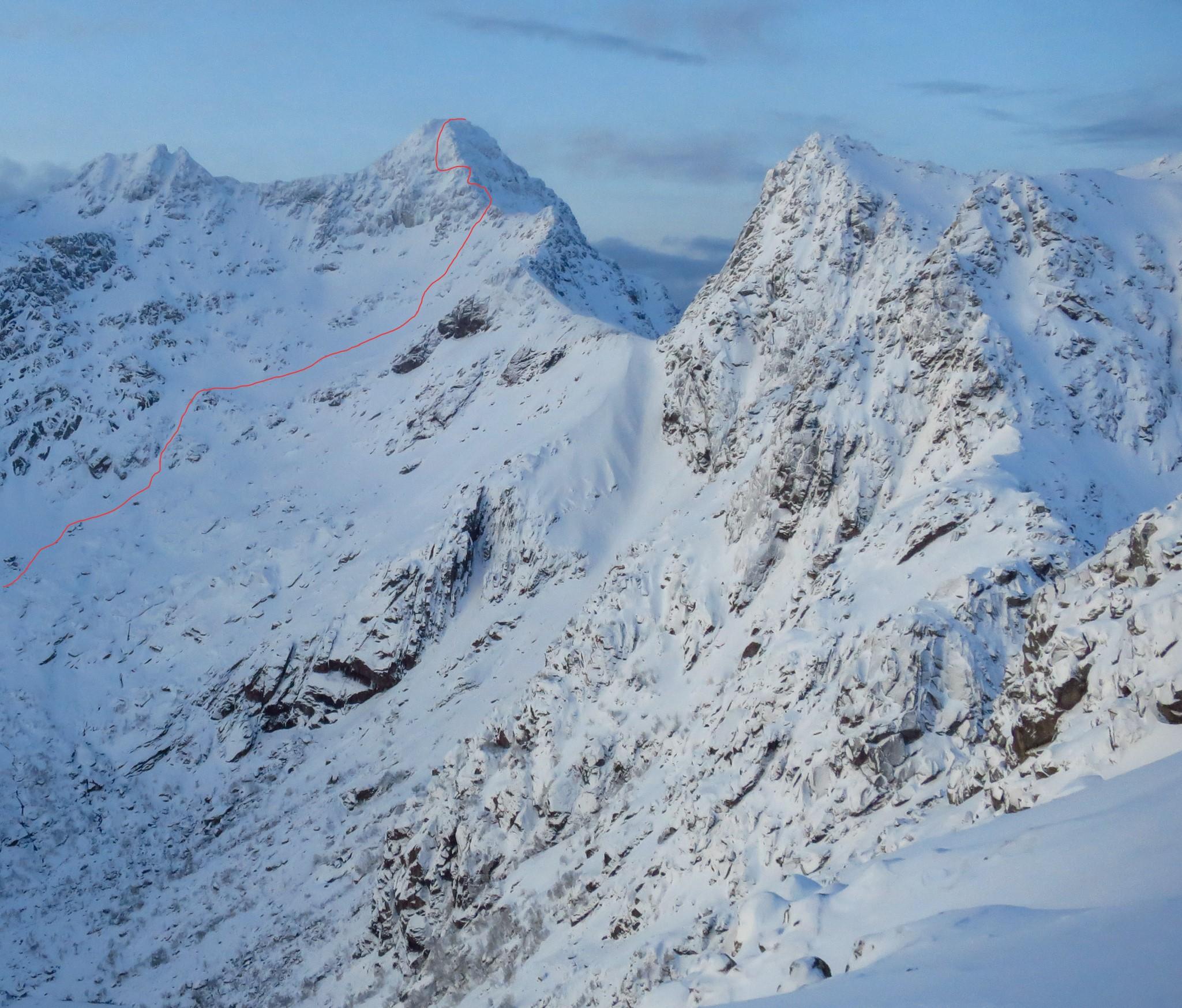 Vestvågøy Lofoten all 27 real mountain summit on ski.