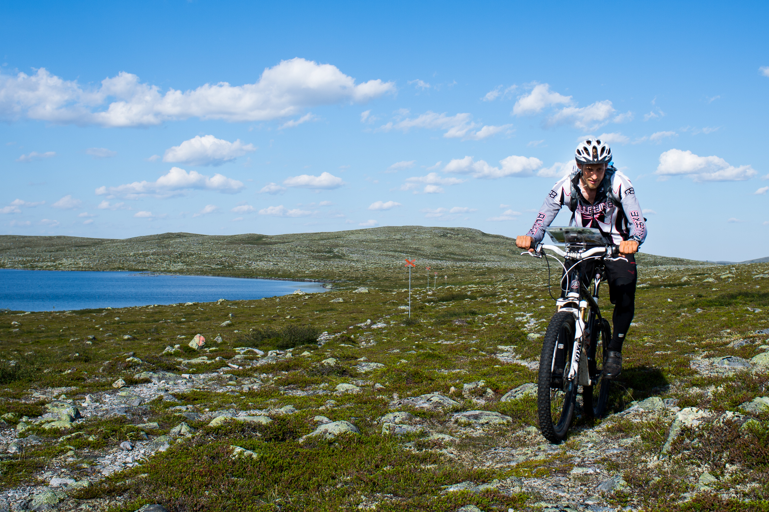 Sweden Mountain Range On MTB